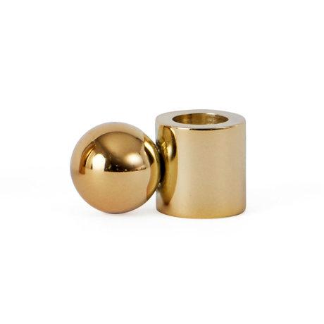 OYOY Candlestick Palloa gold metal S 3.9x2x2 cm
