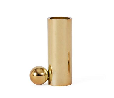 OYOY Kerzenhalter Palloa Gold Metall L 4.5x2.6x7cm