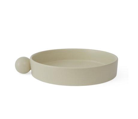 OYOY Tray Inka off-white ceramic Ø26x5cm