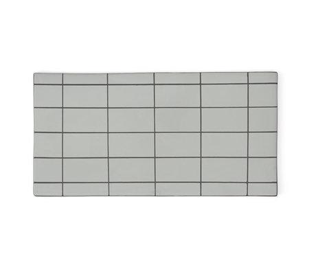 OYOY Teller Suki Mintgrün Grau Keramik Quadrat 32x16cm