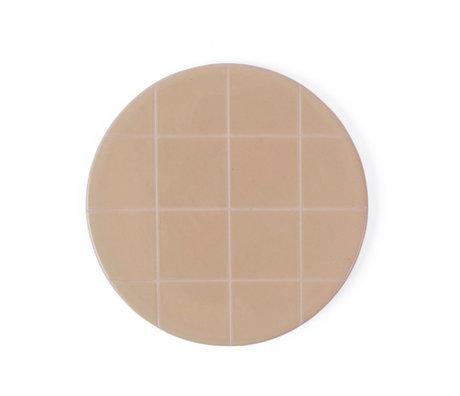 OYOY Bord Suki roze licht bruin keramiek round Ø16cm