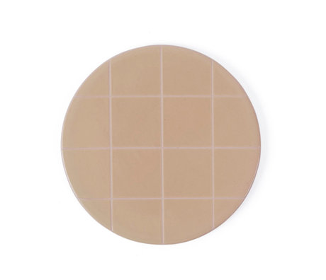 OYOY Plate Suki pink light brown ceramic round Ø16cm