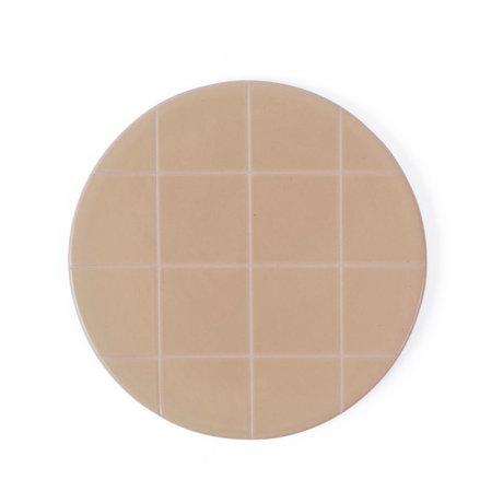 OYOY Assiette Suki rose en céramique marron clair Ø16cm