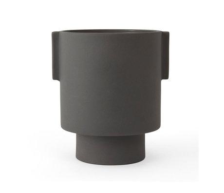 OYOY Pot Inka Kana gris en céramique M Ø15x16cm