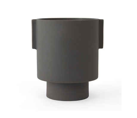 OYOY Topf Inka Kana grau Keramik M Ø15x16cm