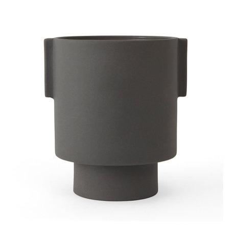 OYOY Pot Inka Kana grijs keramiek M Ø15x16cm