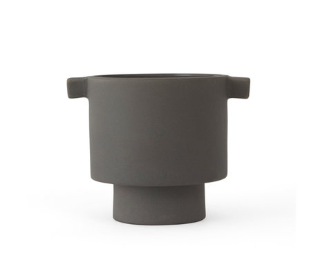 OYOY Pot Inka Kana gray ceramic S Ø10.5x10.5 cm