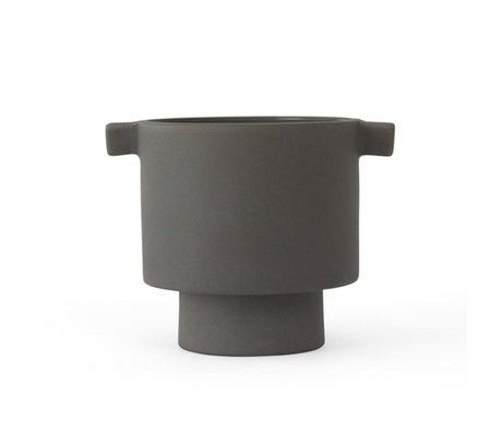 OYOY Topf Inka Kana grau Keramik S Ø10.5x10.5 cm