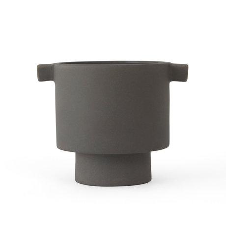 OYOY Pot Inka Kana grijs keramiek S Ø10,5x10,5cm
