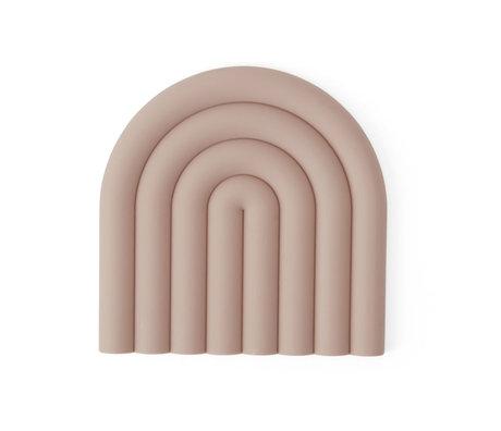 OYOY Onderzetter Rainbow roze silicone 15x15cm