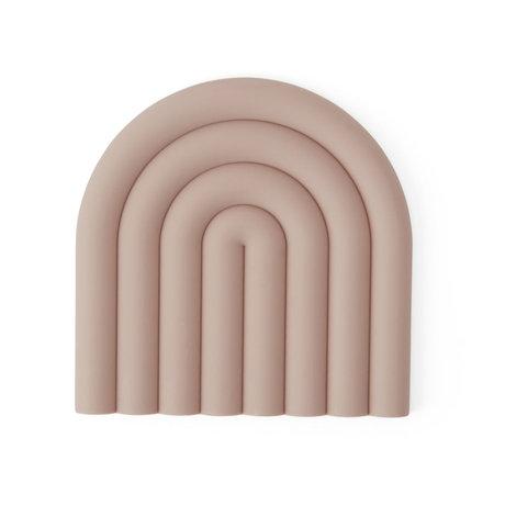 OYOY Coaster Rainbow pink silicone 15x15cm