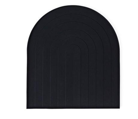 OYOY Plateau à vaisselle en silicone noir 36.5x40.5x12cm