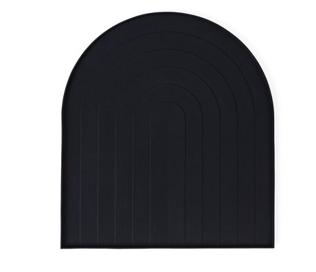 OYOY Tray for washing up black silicone 36.5x40.5x12cm