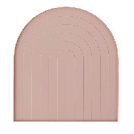 OYOY Dish for washing dishes light pink silicone 36.5x40.5x12cm