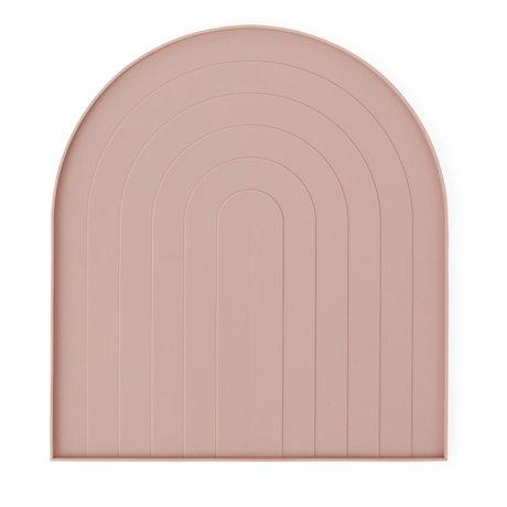 OYOY Plat pour laver la vaisselle en silicone rose pâle 36.5x40.5x12cm