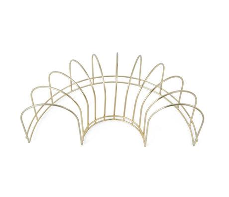 OYOY Afwasrek brass goud metaal 15,5x30,5x10cm