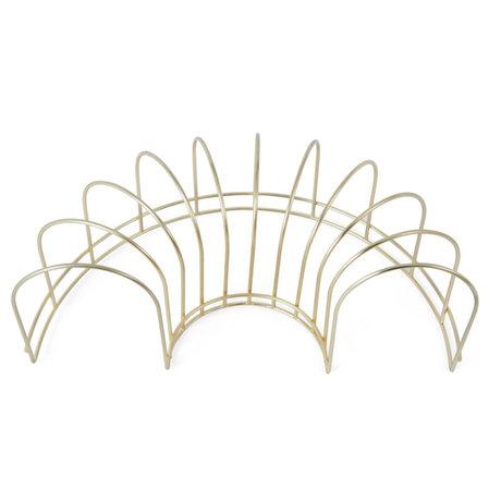 OYOY Geschirrständer Messing Gold Metall 15,5x30,5x10cm