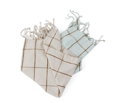 OYOY Geschirrtuch Gobi mintgrün cremeweiß Baumwolle 2er Set 50x70cm