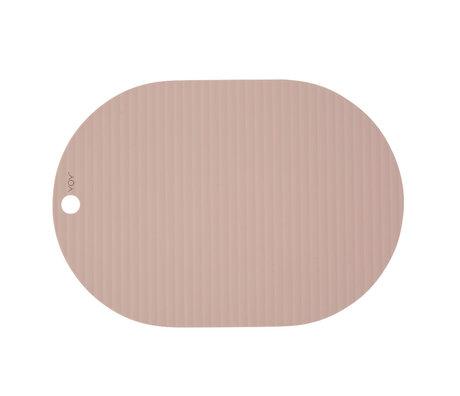 OYOY Placemat Ribbu pink silicone set of 2 33x46cm