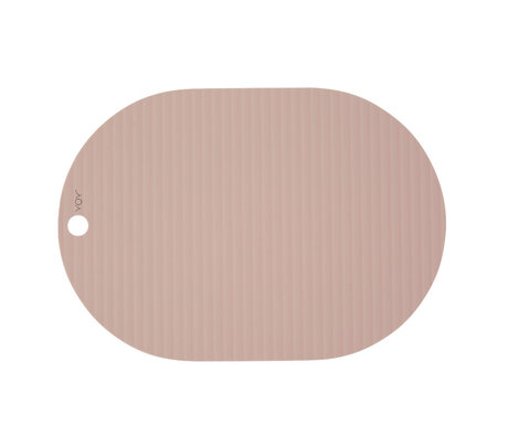 OYOY Placemat Ribbu roze siliconen set van 2 33x46cm