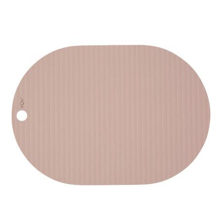 OYOY Tischset Ribbu pink Silikon 2er Set 33x46cm