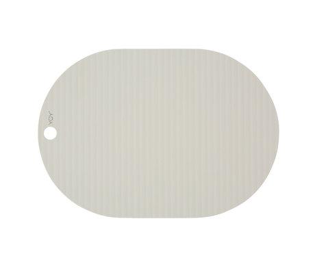 OYOY Placemat Ribbu gebroken wit siliconen set van 2 33x46cm