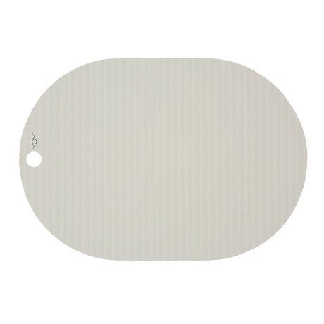 OYOY Placemat Ribbu off-white silicone set of 2 33x46cm