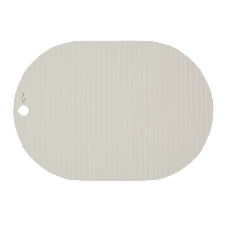 OYOY Set de table Ribbu en silicone blanc cassé lot de 2 33x46cm