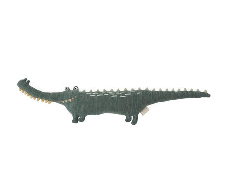 OYOY Umarme Mr. Krokodil Gustav dunkelgrün Textil 90x14x17cm
