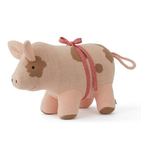 OYOY Umarme Sofie das Weihnachtsschwein pink Textil 44x19x32cm