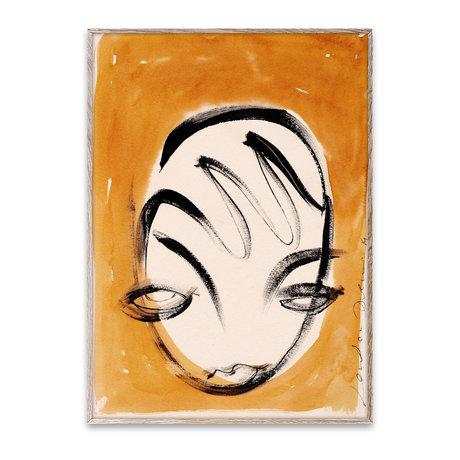 Paper Collective Poster La Nuit geel papier 50x70cm