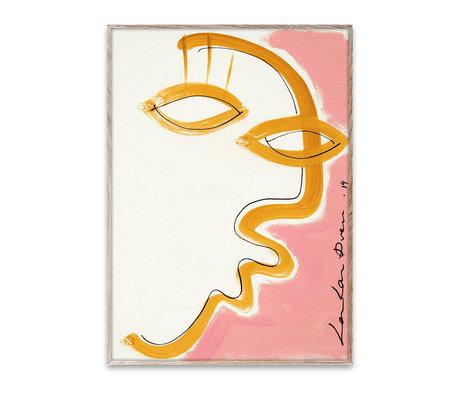 Paper Collective Poster Gentil papier rose 50x70cm