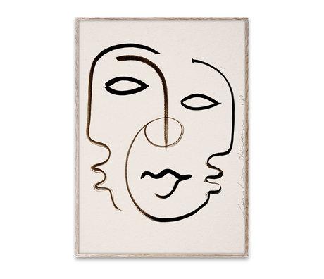 Paper Collective Poster Nous sommes Un papier noir et blanc 30x40cm