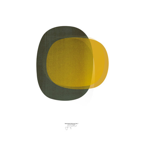Paper Collective Poster Sketchbook Abstract 01 gelbes Papier 30x40cm