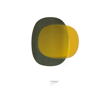 Paper Collective Poster Sketchbook Abstract 01 gelbes Papier 50x70cm
