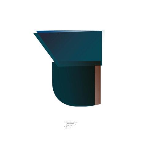 Paper Collective Poster Sketchbook Abstract 03 papier bleu 30x40cm