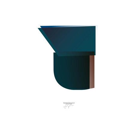 Paper Collective Poster Sketchbook Abstract 03 papier bleu 50x70cm