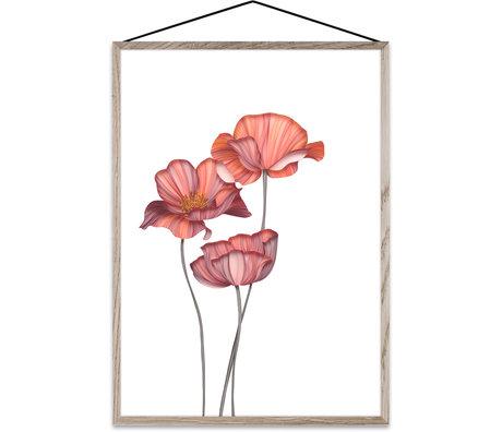 Paper Collective Plakat für immer Blume 01 rosa Papier A4 21x30cm
