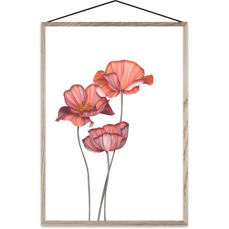 Paper Collective Affiche Forever Flower 01 papier rose A4 21x30cm