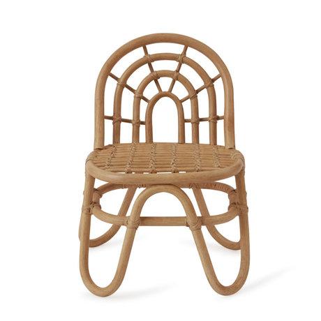 OYOY Stuhl Mini Regenbogen braun Bambus 33,5x28x52cm