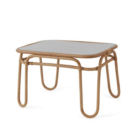 OYOY Table mini bois de bambou arc-en-ciel brun 67x48x44.5cm