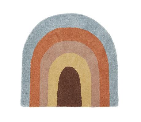 OYOY Rainbow rug multicolour textile 90x88cm
