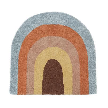 OYOY Tapis arc-en-ciel multicolore textile 90x88cm