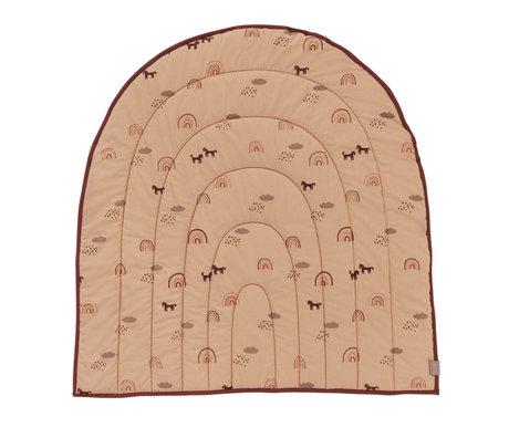 OYOY Tapis de jeu Rainbow textile rose 100x94cm