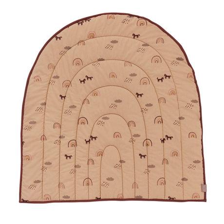 OYOY Play rug Rainbow pink textile 100x94cm