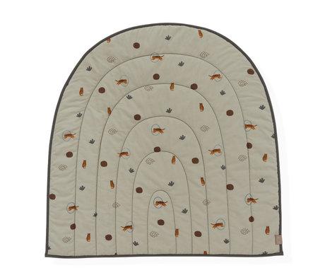 OYOY Play rug Rainbow green textile 100x94cm