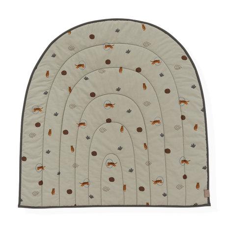 OYOY Spielteppich Regenbogengrün Textil 100x94cm