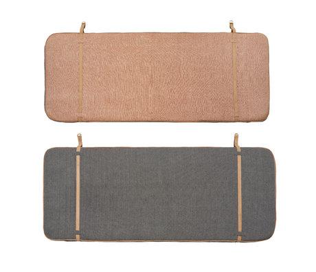 OYOY Headboard Heringbone caramel brown anthracite gray textile 184x5x74cm