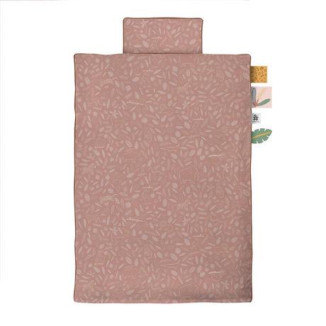 Sebra Dekbedovertrek Wildlife Junior roze katoen 100x140cm - incl. kussensloop 40x45cm