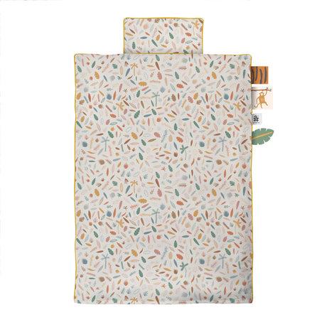 Sebra Bettbezug Wildlife Junior aus cremefarbener Baumwolle 100x140cm - inkl. Kissenbezug 40x45cm